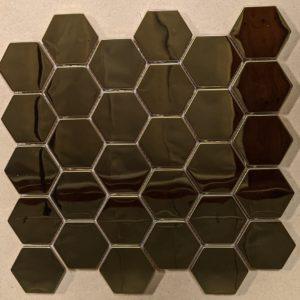Stainless Gold Hexagon Mosaic 9.93x10.32