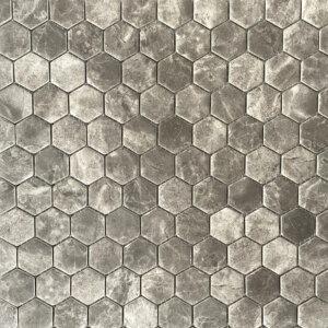 silver matte hexagon
