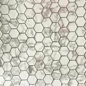 statuario matte hexagon