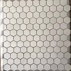 natureglass smooth grey hexagon